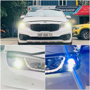 Bi LED X-LED Pro Domax lắp đặt trên Kia Sedona