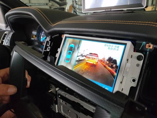 hình ảnh thực tế khi lắpcamera 360 độ cho ô tô